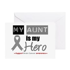 Brain Cancer Hero Aunt Greeting Card