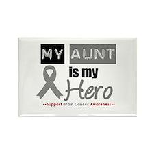 Brain Cancer Hero Aunt Rectangle Magnet