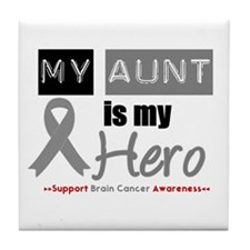 Brain Cancer Hero Aunt Tile Coaster