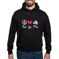 Peace Love Forks Hoody