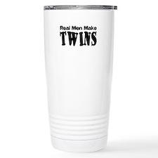 Real Men Make Twins Ceramic Travel Mug