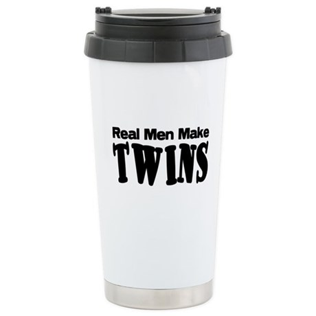 Real Men Make Twins Stainless Steel Travel Mug