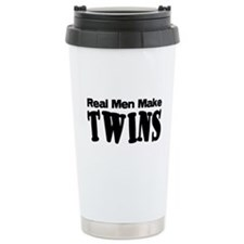 Real Men Make Twins Thermos Mug