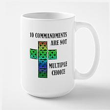 TEN COMMANDMENTS Large Mug