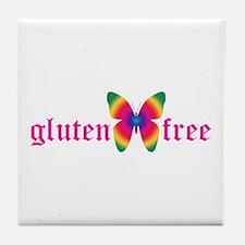 gluten-free butterfly Tile Coaster