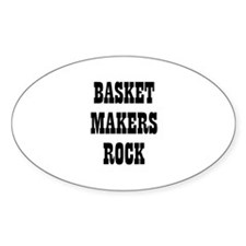 BASKET MAKERS ROCK Oval Decal