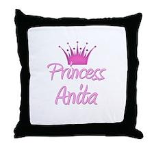 Princess Anita Throw Pillow