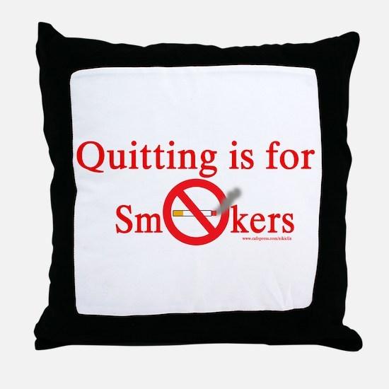 Quit Smoking Throw Pillow