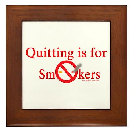 Quit Smoking Framed Tile