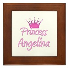 Princess Angelina Framed Tile