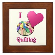 I Love Quilting Framed Tile