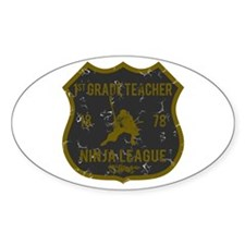 1st Grade Teacher Ninja League Oval Decal
