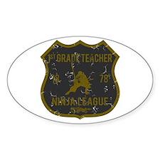 1st Grade Teacher Ninja League Oval Stickers