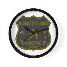 1st Grade Teacher Ninja League Wall Clock