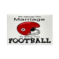 Humorous Football Rectangle Magnet