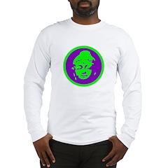 Green & Purple Buddah Long Sleeve T-Shirt
