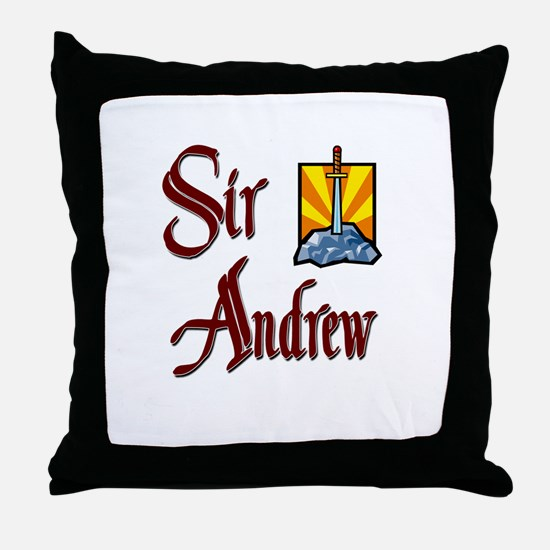 Sir Andrew Throw Pillow