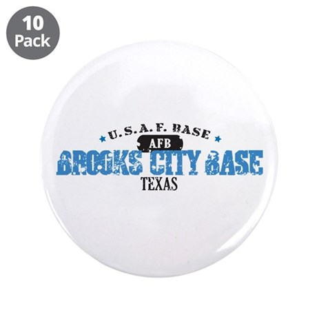 """Brooks Air Force Base 3.5"""" Button (10 pack)"""