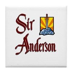 Sir Anderson Tile Coaster