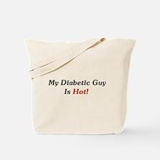 My Diabetic Guy Is Hot! Tote Bag
