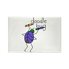Doodle Bug Rectangle Magnet