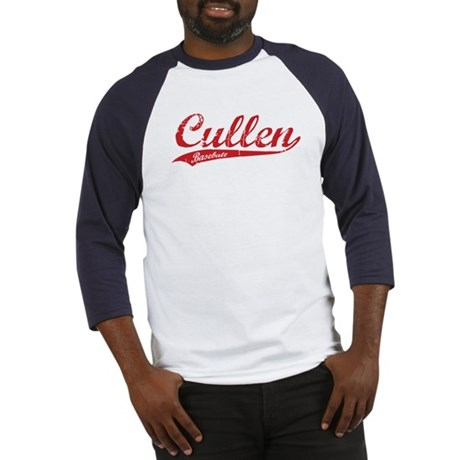 Cullen Baseball Script (Red) Baseball Jersey