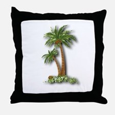 Twin palms Throw Pillow