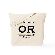 OR Prop Black Tote Bag