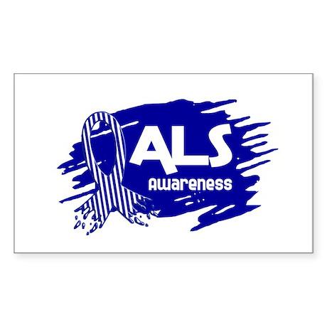 ALS Awareness Rectangle Sticker