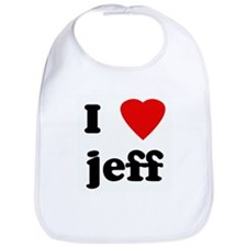 I Love jeff Bib