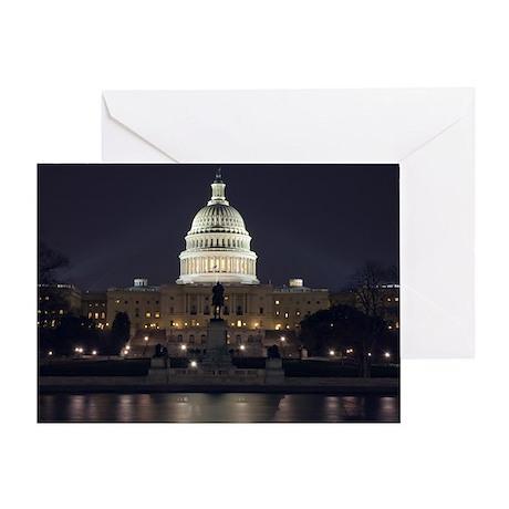 Capitol Hill at Night Greeting Card