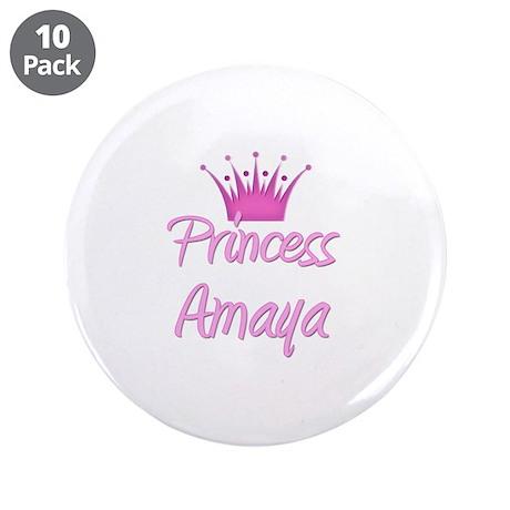 "Princess Amaya 3.5"" Button (10 pack)"