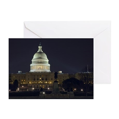 Capitol Hill at Night Greeting Cards (Pk of 10)