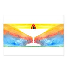 Cute Flaming chalice Postcards (Package of 8)