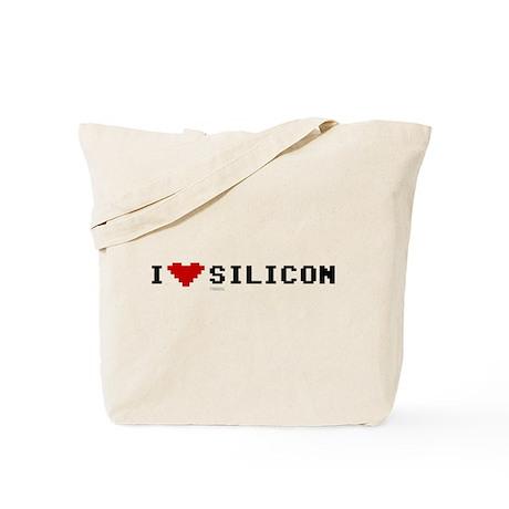 I Love Silicon Tote Bag