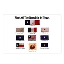 Cute Texas flag Postcards (Package of 8)