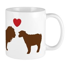 The Lion & The Lamb D (Red) Mug