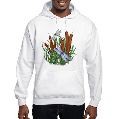 Dragonfly & Cattails Hooded Sweatshirt
