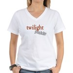 Twilight Junkie Women's V-Neck T-Shirt