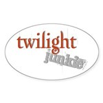 Twilight Junkie Oval Sticker (50 pk)