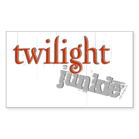 Twilight Junkie Rectangle Sticker