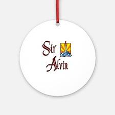 Sir Alvin Ornament (Round)