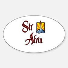 Sir Alvin Oval Decal