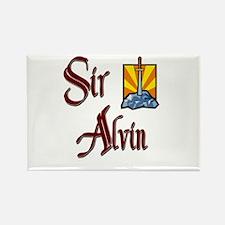 Sir Alvin Rectangle Magnet
