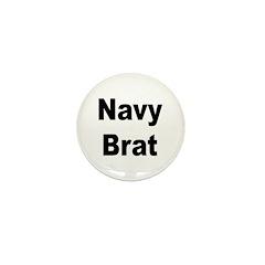 Navy Brat Mini Button (10 pack)
