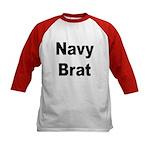 Navy Brat (Front) Kids Baseball Jersey