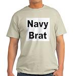 Navy Brat Ash Grey T-Shirt