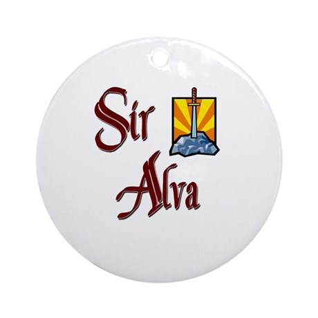 Sir Alva Ornament (Round)