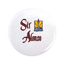 "Sir Alonzo 3.5"" Button"
