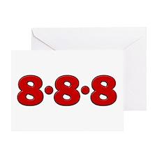 888 Greeting Card